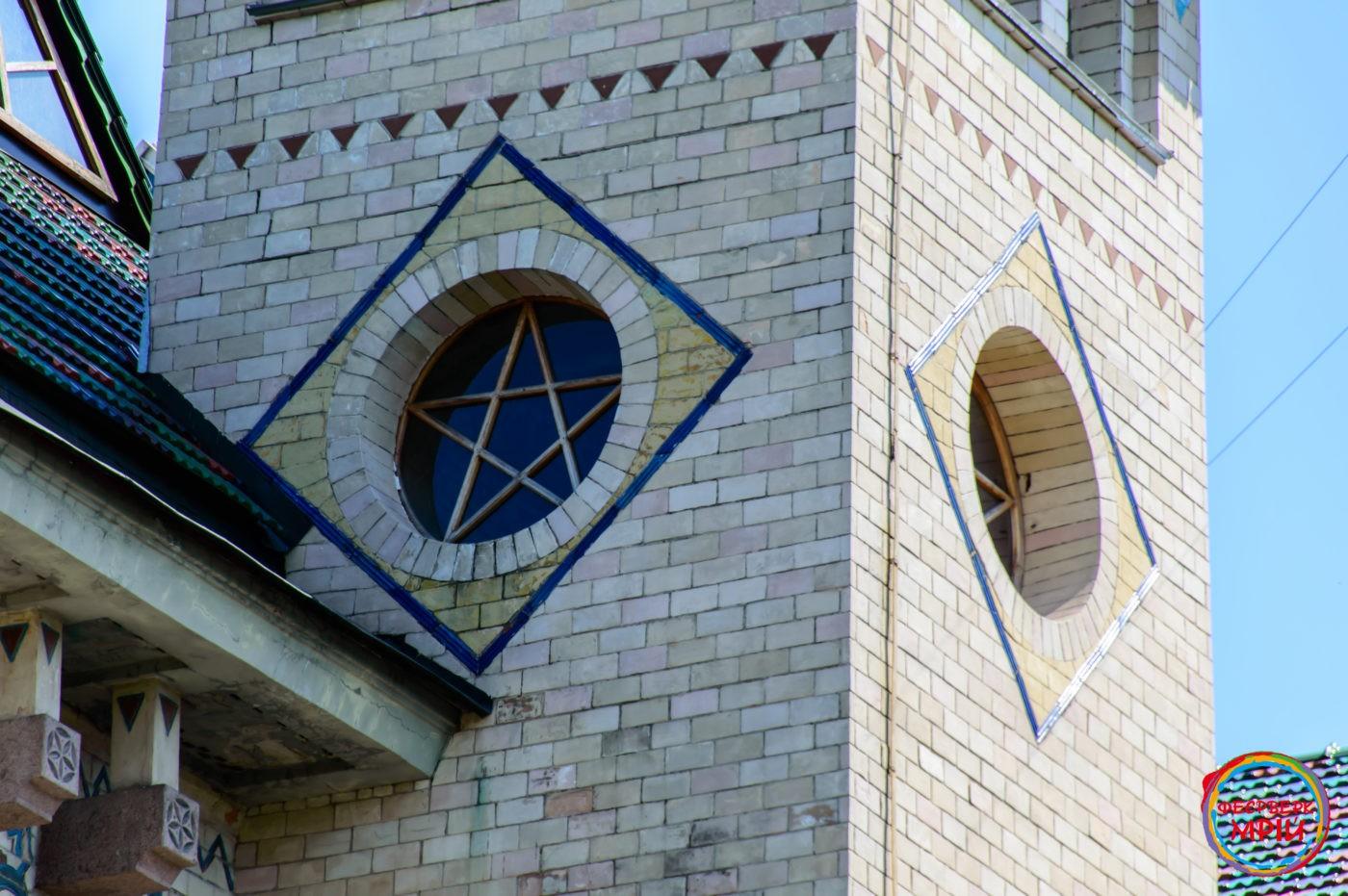 Фрагмент фасаду Полтавського краєзнавчого музею