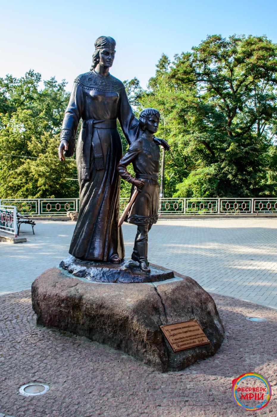 Пам'ятник княжій Малуші в Коростені